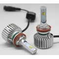 white yellow double color LED headlight